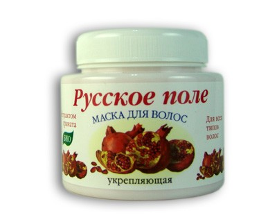Mask for hair with pomegranate extract