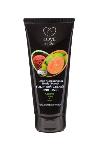 Organic Certified Ingredients Hot body scrub Ultra Cleansing guava + lychee 200ml