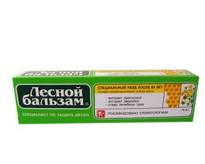 "Toothpaste ""Forest Balsam"" with extracts of propolis and St. John"