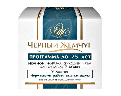 Night Cream normalizing for young skin to 25 years
