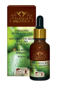 Organic avocado oil for neck and decolte 30ml