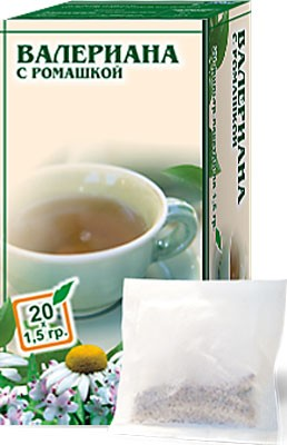Altai Farm Herb Valerian (with Chamomile) Filter Packets #20/1.5 G