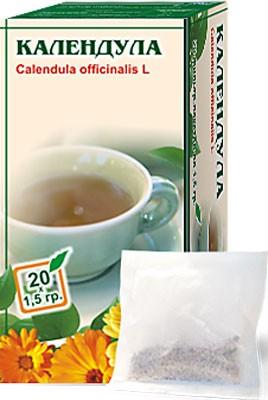 Altai Farm Herb Calendula Flowers Filter Packets #20/1.5 G