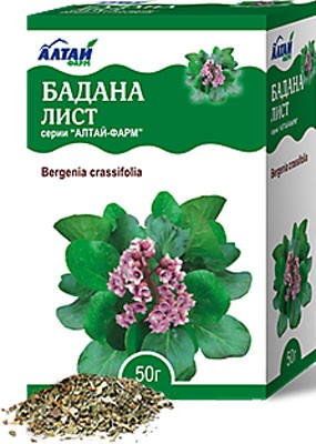 Altai Farm Herb Badan Leaves  50g