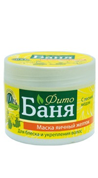 Herbal Bath Yolk Mask with Honey for Shine and Strengthening, 300 Ml