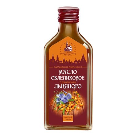 Sea Buckthorn Oil with Linseed Oil, 6.76oz (200ml)