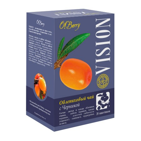 Buckthorn Tea with Blueberry VISION, 20pcs each 0.05oz (1.5g)