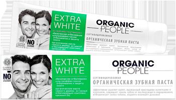 Organic toothpaste, extra white, 100 ml