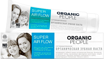 Organic toothpaste, super air flow, 100 ml