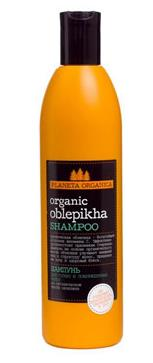 ORGANIC OBLEPIKHA Shampoo for dry and damaged hair organic Arctic sea buckthorn oil, 360 ml