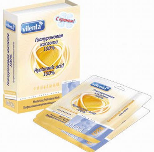 Professional Hydrating Mask Vilenta 100% hyaluronic acid