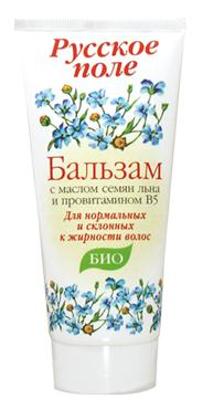 "Balm for greasy hair series ""Russian field"" with flax seed oil and pro-vitamin B5 180ml"