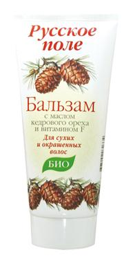 "Balm for dry and colored hair series ""Russian field"" with cedar oil and vitamin F 180ml"
