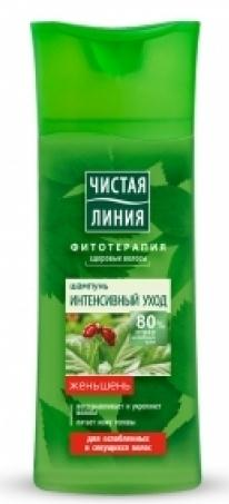 "Shampoo ""Intensive Care"" in herbal broth with ginseng extract 250 ml"