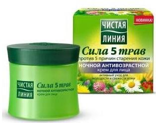 ANTI-AGE Night Face Cream Power 5 herbs 45 ml