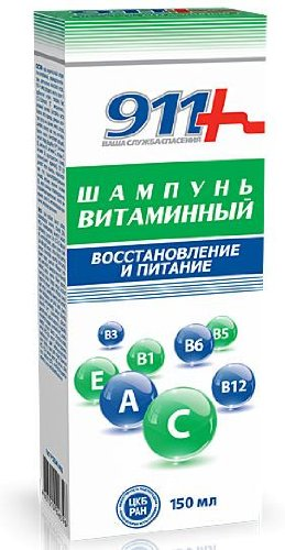 "911 Vitamin Shampoo ""Recovery and Nutrition"" 150ml"