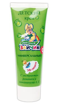 Universal Baby Cream with Chamomile and Vitamin A, 75 Ml