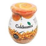 Goldenmix 100% Natural Pureed Sea Buckthorn with Sugar and Pumpkin, 9.52oz (270g)