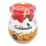 Goldenmix 100% Natural Pureed Sea Buckthorn with Sugar and Strawberry, 9.52oz (270g)