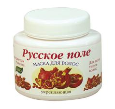 "Restorative Hair Mask with pomegranate extract a series of ""Russian field"" for all hair types 250 ml"