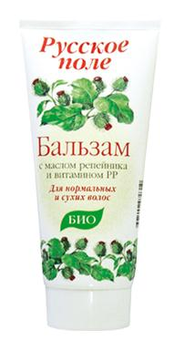 "Balm for normal to dry hair series ""Russian field"" with oil thistles and vitamin PP 180ml"