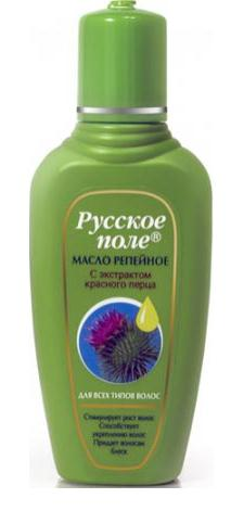 "Burdock oil with extract of red pepper ""Russian field"" for all hair types100ml"