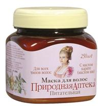 "Hair mask with nourishing shea butter series ""Natural Pharmacy"" Madame de Pampadur 250 ml"