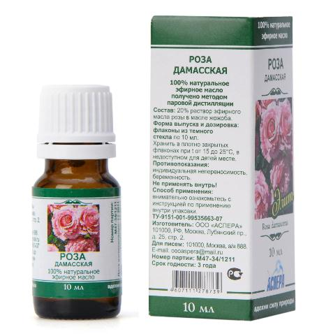 100% Natural Damask Rose Officinalis Essential Oil, 10 ml (Aspera)