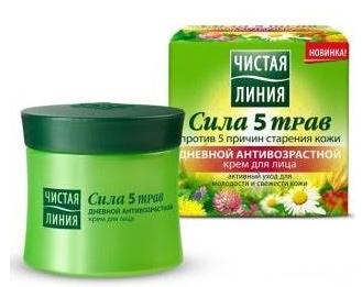 Daily anti-aging cream for the face a series of five power herbs 45 ml