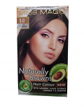"Hair Colour ""Miss Magic"" 108 G - #5 Natural Light Brown With Jojoba, Avocado Oil, Almond Oil"