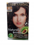 "Hair Colour ""Miss Magic"" 108 G - #4 Natural Brown With Jojoba, Avocado Oil, Almond Oil"