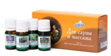 "Natural set of 4 essential oils ""For sauna and massage"""